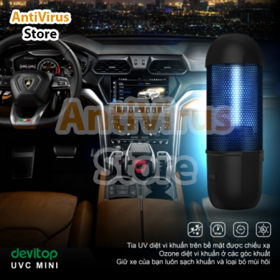 Đèn UVC Mini được trang bị công nghệ khử trùng kép, tua UV kết hợp Ozone hợp lý cho mọi không gian trở nên sạch sẽ